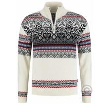 Kama ® Heren pullover Merino Nordic, off-White