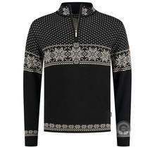 Kama ® heren pullover 100% Merino, zwart