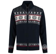 Kama ® Men´s knitted cardigan Windstopper®, Navy