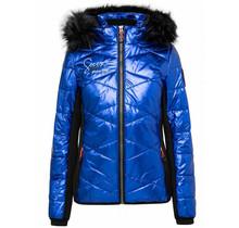 Soccx ® gewatteerd jack in ski-design met metallic look