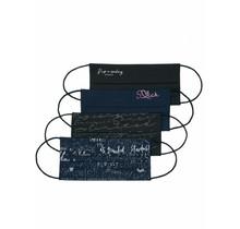 Soccx ® Stoffmaske mit Glitzer-Print im 4Er Pack Diverses