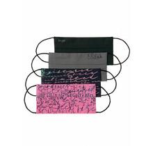 Soccx ® stoffen mondkap met Glitter print 4-pack diversen