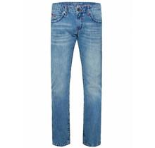 Camp David ® Jeans mit Kontrastriegel Regular Fit Stone Used