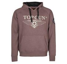 """Top Gun ® Hoodie sweatshirt """"Logo TST"""" met patches op de mouw"""