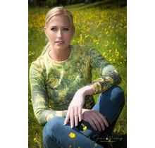 """Anne Hill ® """"Die Kraft der Blume"""" Sweatshirt, grün/gelb"""