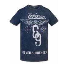 T-shirt Top Gun ® «Never Surrender» bleu
