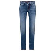 Soccx ® jeans met rechte pijpen en used look