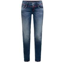 Soccx ® Jeans met gebruikte wassing en gekleurde naden