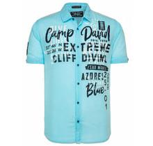 Camp David ® Chemise décontractée légère avec imprimé sur le devant, bleu clair