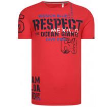 "Camp David ® T-shirt gemaakt van vlam garen ""Mission Blue"" rood"