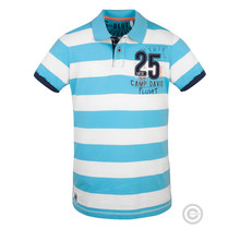 Camp David Poloshirt gestreift, blau aus der Sky Flight