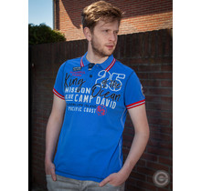 "Camp David ® polo shirt ""King of the Ocean"" blue"