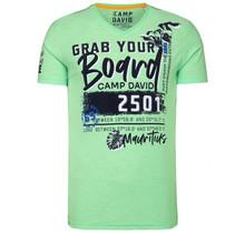 Camp David ® T-Shirt met V-hals en Artwork, kiwi