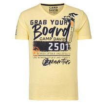 Camp David ® T-Shirt met V-hals en Artwork, sun