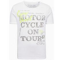 Camp David ® gestreept t-shirt met vintage en pofprint
