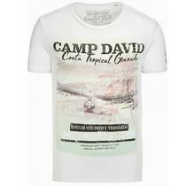 Camp David ® T-shirt met fotoprint en burnouts