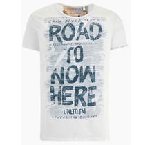 Camp David ® T-shirt met used look en print artworks