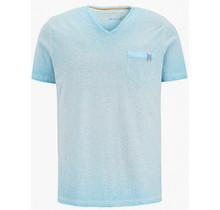 Camp David ® gestreept t-shirt Oil Dyed met print op de achterkant