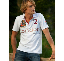 John Brilliant ® Poloshirt London, wit