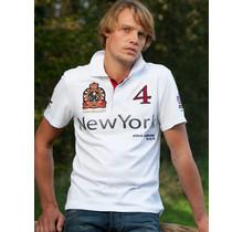 John Brilliant ® Poloshirt New York, weiß