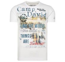 Camp David ® T-Shirt mit Photoprint und Stickereien