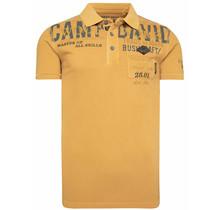 Camp David ® poloshirt van piqué met labelapplicaties