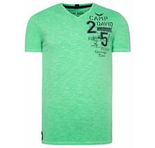 Camp David ® t-shirt gemaakt van slubgaren met artwork op de achterkant