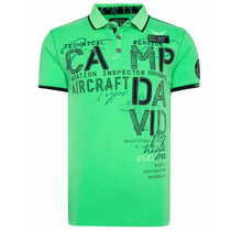 Camp David ® Polo mit Label-Applikationen und tapes