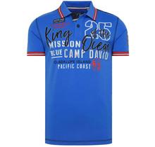 "Camp David ® Poloshirt ""King of the Ocean"" Blau"
