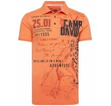 Camp David ® piqué polo met labelapplicaties