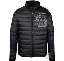 Camp David, zwart gewatteerd jack met logotapes en artwork