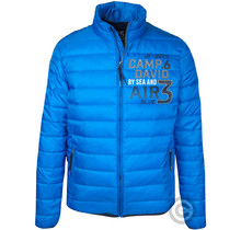 Camp David, veste matelassée avec bandes logo et illustrations