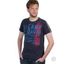 Camp David, T-Shirt im Vintage Look mit Label Prin