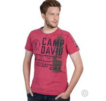 Camp David, t-shirt in vintage look met labelprint