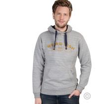 Hoodie met Weirdfish-logo, grijs