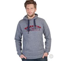 Hoodie met Weirdfish-logo, marineblauw