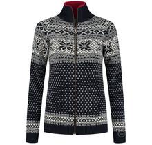 Damen-Cardigan aus 100% reiner norwegischer Schurwolle, dunkelblau