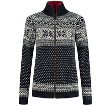 Dames vest van 100% pure nieuwe Noorse wol, donkerblauw