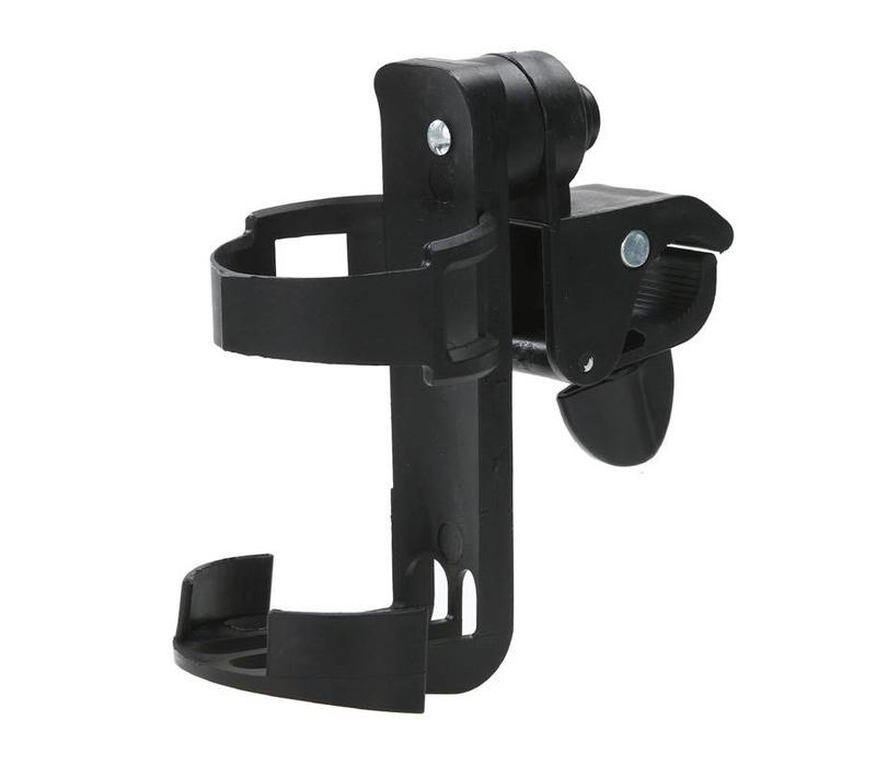 Bottle holder, adjustable, can be attached at a rollator, wheelchair or mobility scooter