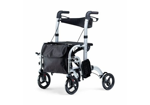 Mobinova Rollator Dual, also  to use as transport chair, (special offer)