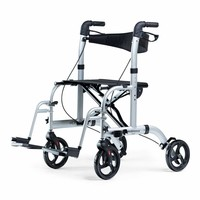 Rollator Dual, can also be used as a  transport chair. Foldable
