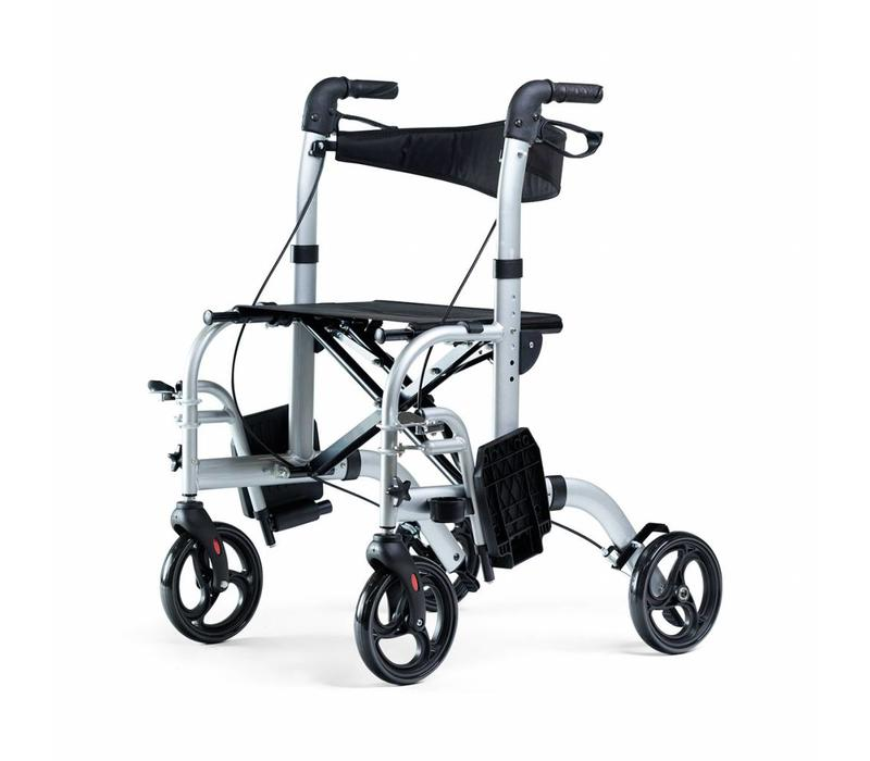 Rollator Mobinova Dual, foldable, lightweight, can also be used as a  transport chair