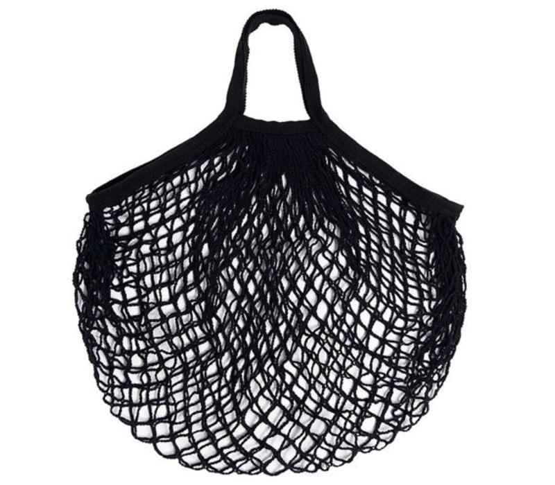 mesh shopping net,  cotton, to carry in your hand, but also easy to attach to rollator or wheelchair