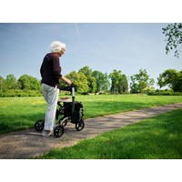 Rollator Dual, can also be used as a push chair,  also called transport chair. Foldable