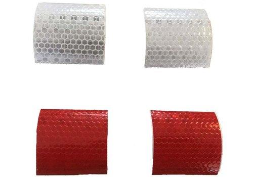 Mobinova stickers, retro-reflecting, white and red
