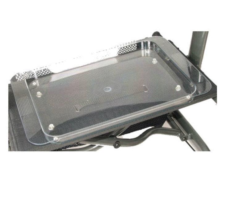 Dienblad om op een rollator te plaatsen