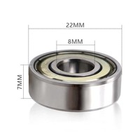 Set of 2 ball bearings (type 608ZZ), suitable for rollator wheels