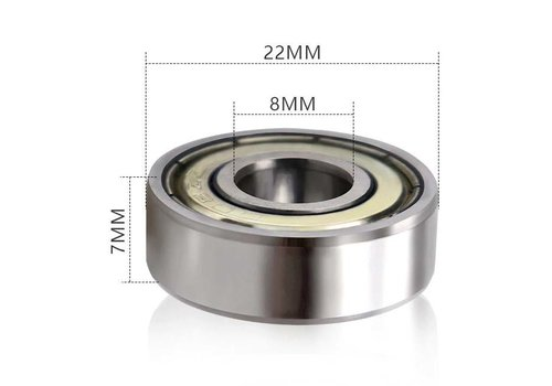 Mobinova ball bearings ( 2 pcs) type 608ZZ, for rollator wheels