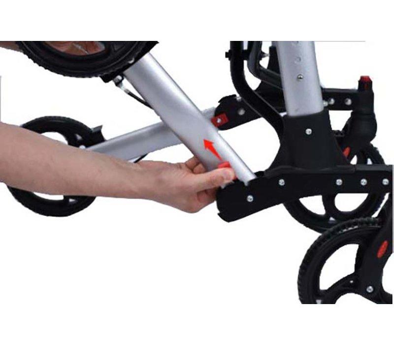 Rollator Compact 2.0,  dubbel opvouwbaar, gratis dienblad en boodschappentas