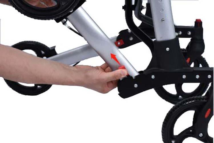 mobinova rollator Compact 2.0 ontgrendel wielen
